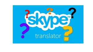 Skype translator with question marks